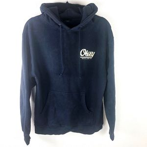 Obey | Worldwide Hoodie Navy Blue Size Small